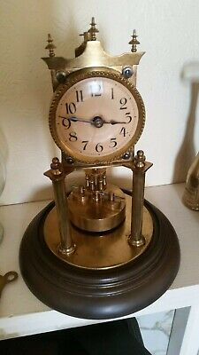 Rare Antique Jahresuhrenfabrik ? 400 Day Anniversary Clock. Working condition.