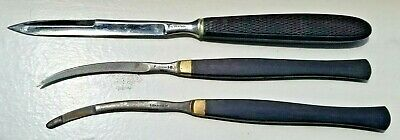 Lot Of Rare Civil War Era Surgeon's Tiemann & Co Scalpels And Catlin Knife-Exc