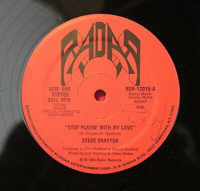 """Soul/Funk 12"""" STEVE DRAYTON - STOP PLAYING' WITH MY LOVE on RADAR RECORDS"""