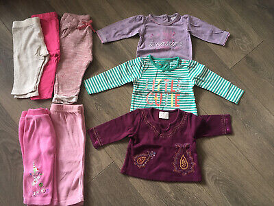 Baby Girl Clothes Bundle Tops Leggings 3-6 Months