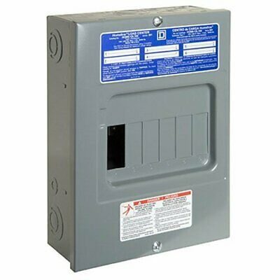 Indoor Main Lug Load Center 100 Amp Electrical Sub-Panel Box 6 Space 12 Circuit
