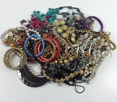 4 lbs Costume Jewelry Lot Vintage to Now Necklaces Bracelets Wearable Estate