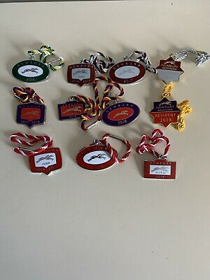 Collection Of 11 Newbury Racecourse Annual Members Badges Horse Racing