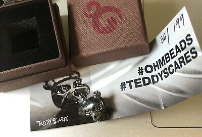 Ohm Beads Teddy Scares Skull Signed