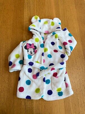 Minnie Mouse Baby Girl Dressing Gown 💖 0-6m **Excellent Condition**