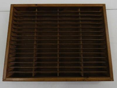 Vintage Napa Valley Stained Wood 64 Cassette Cabinet Case Storage Holder