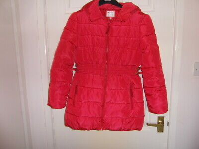 m&s new without tags a size 11-12 yrs H 152cm C 78cm Red coloured Quilted Coat