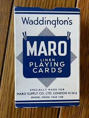 Vintage Maro Linen playing cards by Waddingtons.