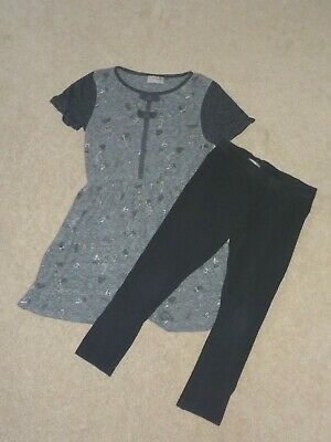 NEXT Girls 8 years pretty top and black leggings set