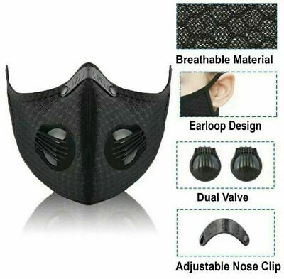 Outdoor Sports Cycling Riding Air Purifying Half Face Mouth Cover Black New