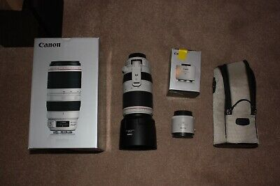 Canon EF 100 mm - 400 mm F/4.5-5.6L IS II USM For Canon - White With 2x Extender