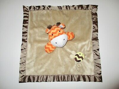 Circo Giraffe Bumblebee Baby Lovey Brown Orange Security Blanket Satin Target