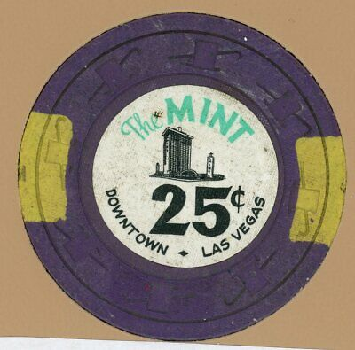 25¢ Chip from the Mint Casino, Las Vegas