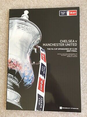 FA Cup Final 2007 Official Programme: Man Utd Vs Chelsea