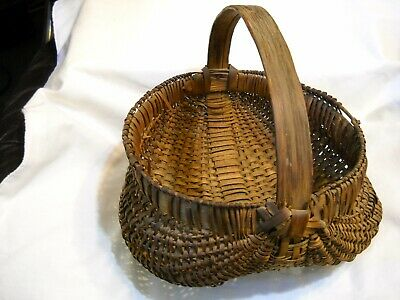 Antique Hand Woven Gathering Basket