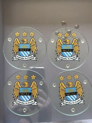 Manchester City F.C. 4 Pack Coaster Set