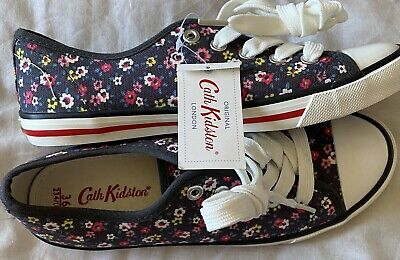 Bnwt LADIES CATH KIDSTON FLORAL LACE UP FLATS TRAINERS SHOES UK3 Eu36