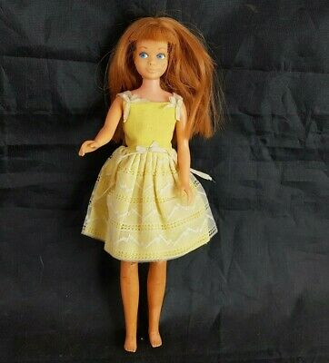 "Vintage Skipper Doll with Yellow Dress 1963 9"" Mattel"