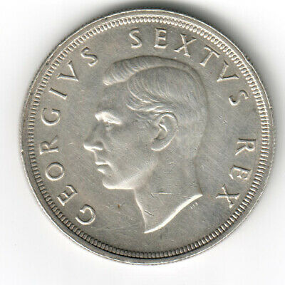 1948 South Africa 5 Shillings Silver Coin