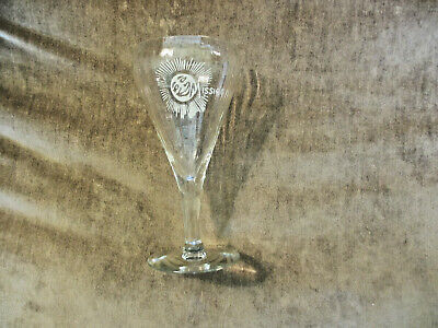 VINTAGE EARLY 1900s MISSION ORANGE DRINK SODA FOUNTAIN SERVICE ADVERTISING GLASS