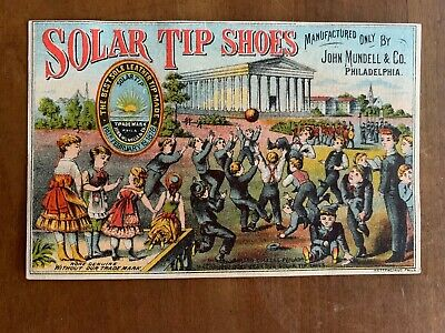 Solar Tip Shoes 2 trade cards Mundell & Co Phila ball game