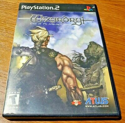 WIZARDRY: TALE OF THE FORSAKEN LAND Sony PlayStation 2 PS2 RARE Adult owned Used