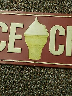 ice cream metal sign vintage country store