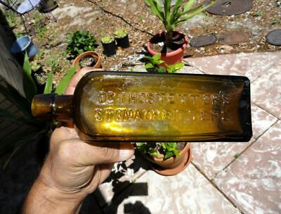 antique YELLOW Dr. HOSTETTER'S STOMACH BITTERS BOTTLE ~late 1800's~