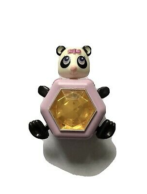 Vintage 80s 1984 Galoob Sweet Secrets Pinkie Panda Orange Jewel Charm Toy