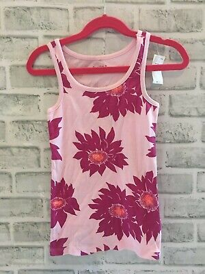Nwt Gap Kids Gapkids Small 6-7 Tank Top 6 7 Floral Flowers Pink Girls Tropical