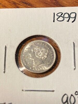 1899 Canada 5 Cents Choice Au