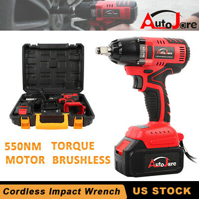 4900in-lbs cordless impact wrench rattle gun + Battery&Charger power tool set