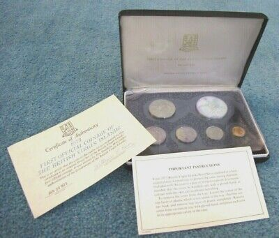 1973 Silver Dollar Proof Set First Official Coinage of British Virgin Islands