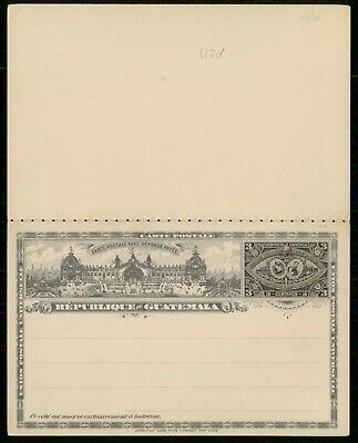 MayfairStamps Guatemala 1897 3 Cents Mint Postal Stationery Reply Card WWE95761