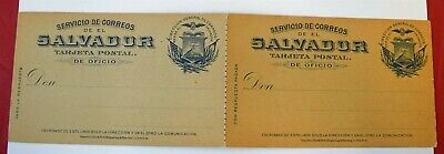 MayfairStamps El Salvador 1895 Mint Postal Stationery Reply Card WWE95987