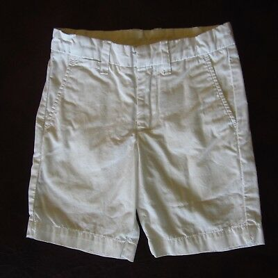 CREWCUTS Boys Girls 5 White Straight Fit Flat Front Shorts Adjustable Waist