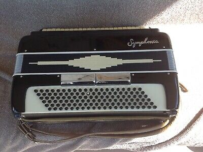 Vintage SYMPHONIA Accordion Made In Italy With Case