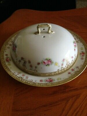 Antique Hand Painted Nippon Porcelain Covered Dish