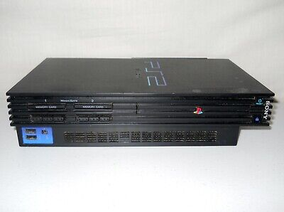 Sony PlayStation 2 Fat Black PS2 Console Only SCPH-39001 w/ Network Adapter