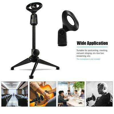 Tiger Straight Microphone Stand with Tripod Base - Mic Adjustable Plastic W6C4
