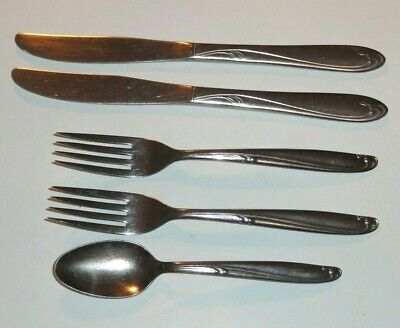 5 Piece Lot Of Simeon & George H. Rogers Stainless Steel Utensils