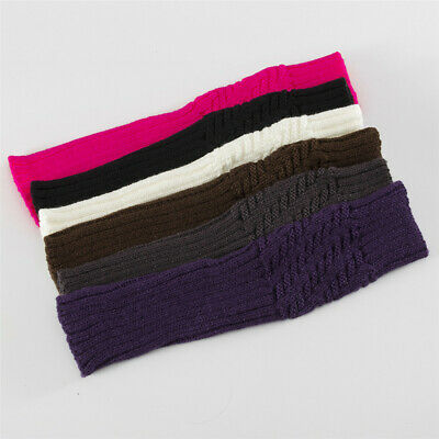Winter Soft Long Knitted Gloves Arm Warmers Fingerless  Mittens Candy Color