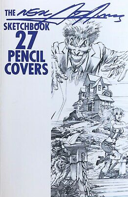 NEAL ADAMS rare 2016 27 PENCIL COVERS Sketchbook SIGNED 56 Pgs CLASSIC images!