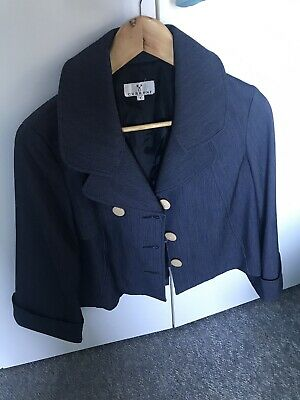 Classic Navy Thin Striped Blue Jacket Size 8/10