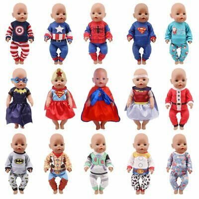 Doll Clothes 2-Piece Pajamas for 18 Inch American Superhero Series Spider-Man