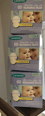 Lansinoh Disposable Breast Pads - Pack of 180 (3 x 60) New