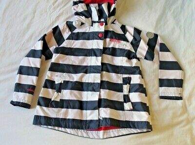 Girls REGATTA Hooded Rain Jacket Coat Bretton Stripe Aged 5-6 Years