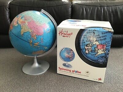 Used Hamleys Spinning 28cm World Globe With Original Box
