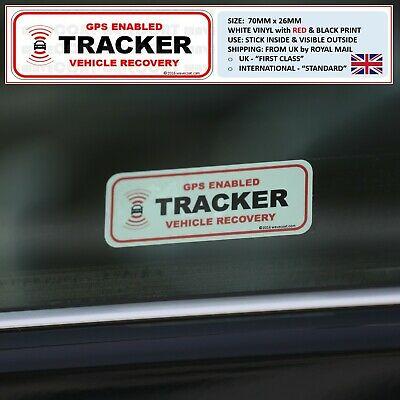 2 x WINDOW STICKERS - CAR TRACKER FITTED OBD PORT LAND ROVER DISCOVERY THEFT