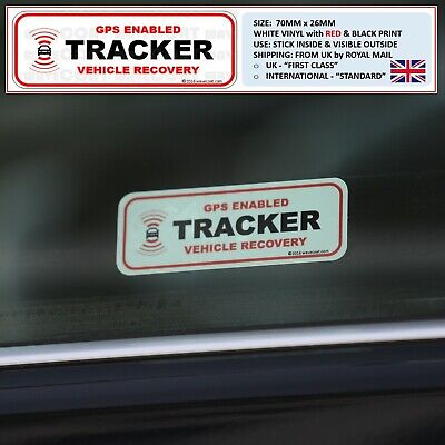 2 x WINDOW STICKERS - CAR TRACKER FITTED OBD PORT RANGE ROVER SPORT EVOQUE THEFT